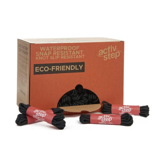 Activ-Step Recycled 125cm Black Shoe Laces